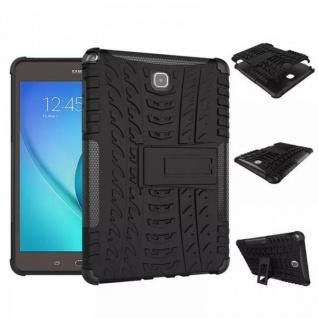 Hybrid Outdoor Schutzhülle Case Schwarz für Samsung Galaxy Tab A 9.7 T550 Tasche