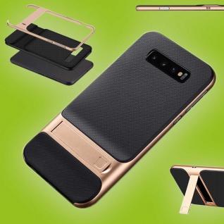 Für Samsung Galaxy S10 Plus Standing Hybrid Gold Tasche Etuis Hülle Outdoor Case