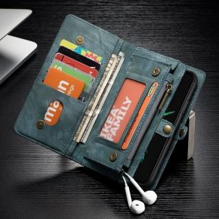 Schutzhülle Tasche für Apple iPhone X / XS Geldbeutel Schutz Hülle Etui Blau