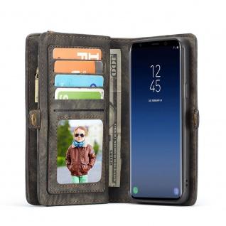 Handy Tasche für Samsung Galaxy S9 Plus G965F CaseMe Geldbeutel + Etui Schwarz