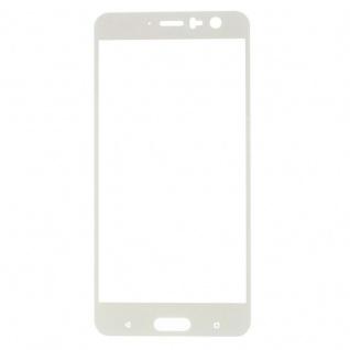 Premium 0, 3 mm gebogenes H9 Hartglas Weiß Folie für HTC U11 Schutz Hart Neu