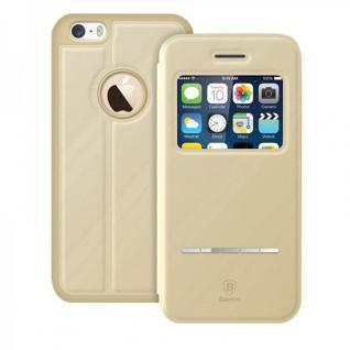 Original Baseus Window View Tasche Beige für Apple iPhone 4.7 Etui Hülle Case