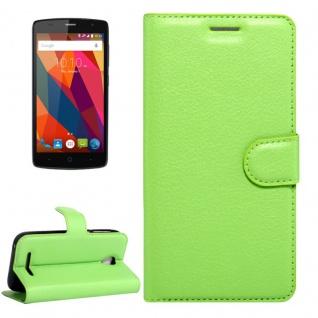Schutzhülle Grün für ZTE Blade A110 L110 Bookcover Tasche Hülle Wallet Case Neu