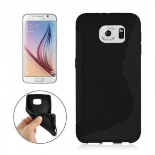 Silikonhülle S-Line Schwarz Cover Hülle für Samsung Galaxy S6 G920 G920F Kappe