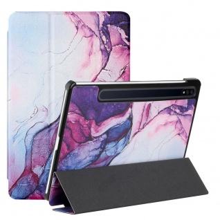 Für Samsung Galaxy Tab S7 FE / Tab S7 Plus 3folt Wake UP Smart Cover Motiv 3 Neu