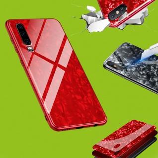 Für Apple iPhone X / 10 / XS Color Effekt Glas Cover Rot Tasche Etuis LUXUS Case