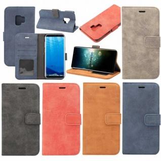 Deluxe Retro Bookcover Wallet für Smartphones Schutzhülle Cover Etui Tasche Case