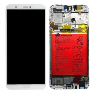 Huawei Display LCD Rahmen für P Smart Service Pack 02351SVE Weiß Reparatur Neu