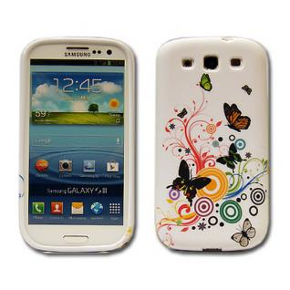 Backcover Motiv 1 für Samsung Galaxy S3 i9300 Zubehör Silikon Schutz + Folie Neu