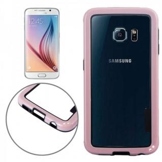 Hybrid Bumper Rosa Hülle Case Schale Tasche für Samsung Galaxy S6 G920 G920F Neu