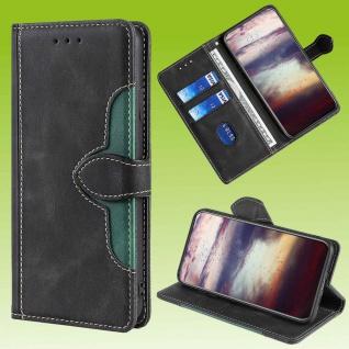 Für Samsung Galaxy S20 FE Design Handy Tasche Schwarz Etuis Kunst-Leder Hülle