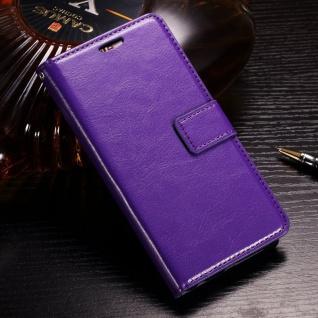 Tasche Wallet Premium Lila für Huawei Honor 9 Lite Hülle Case Cover Schutz Etui