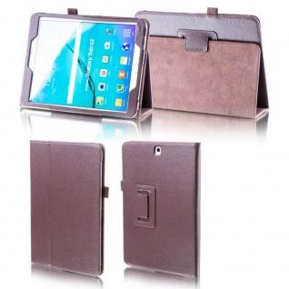 Für Huawei MediaPad M5 10.8 Schutzhülle Braun Tasche Hülle Case Cover Etui Neu