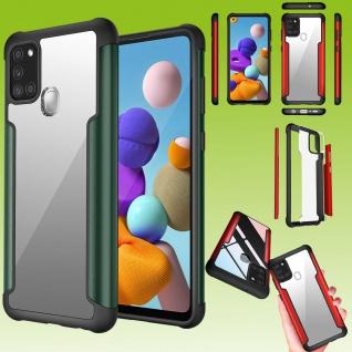 Für Samsung Galaxy A21s Hybrid Iron Man Grün Handy Tasche Etuis Hülle