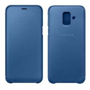 Samsung Wallet Cover Hülle EF-WA600CLEGWW Galaxy A6 2018 A600F Schutzhülle Blau