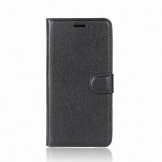 Tasche Wallet Premium Schwarz für Wiko View Prime Hülle Case Cover Etui Schutz - Vorschau 4