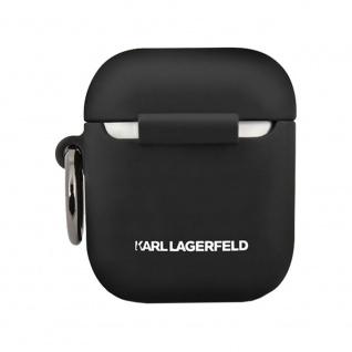 Karl Lagerfeld Silikon Cover für Apple AirPods Schwarz Schutzhülle Tasche Case - Vorschau 3