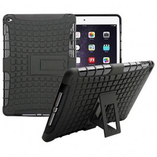 Hybrid Outdoor Schutzhülle Cover Schwarz für Apple iPad Air 2 Tasche Case Hülle