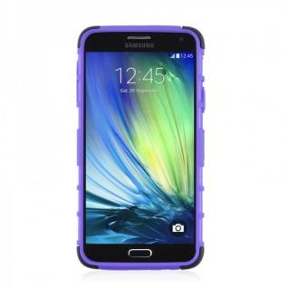 Hybrid Case 2 teilig Robot Lila Cover Hülle für Samsung Galaxy A5 A500 A500F Neu - Vorschau 4