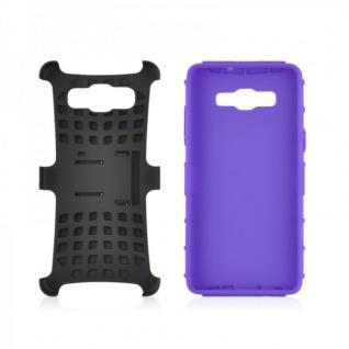 Hybrid Case 2 teilig Robot Lila Cover Hülle für Samsung Galaxy A5 A500 A500F Neu - Vorschau 2