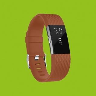 Für Fitbit Charge 2 Kunststoff / Silikon Armband für Frauen / Größe S Braun Uhr