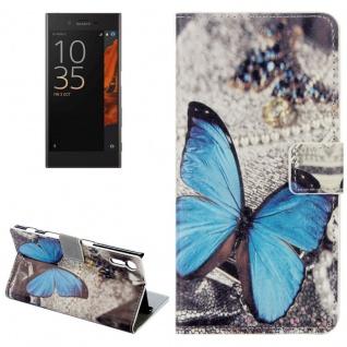 Tasche Wallet Premium Muster 12 für Sony Xperia XZ F8331 Bookcover Hülle Case