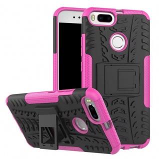 New Hybrid Case 2teilig Outdoor Pink für Xiaomi Mi 5X Mi A1 Tasche Hülle Cover