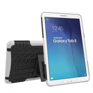 Hybrid Outdoor Schutzhülle Weiß für Samsung Galaxy Tab E 9.6 SM T560 Tasche Case