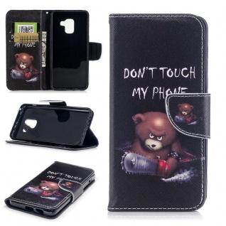 Tasche Wallet Premium Motiv 25 für Samsung Galaxy A8 2018 A530F Hülle Case Etui
