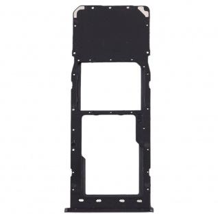 Sim Karten Halter für Samsung Galaxy A10 Schwarz Card Tray Micro SD Ersatzteil