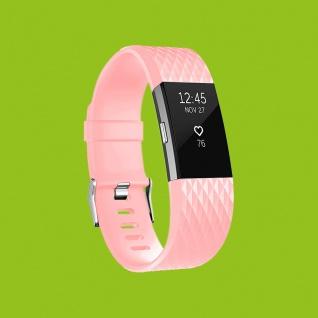 Für Fitbit Charge 2 Kunststoff / Silikon Armband für Frauen / Größe S Rosa Uhr