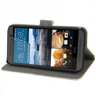 Schutzhülle Muster 72 für HTC One 3 M9 2015 Tasche Cover Case Hülle Etui Schutz - Vorschau 5