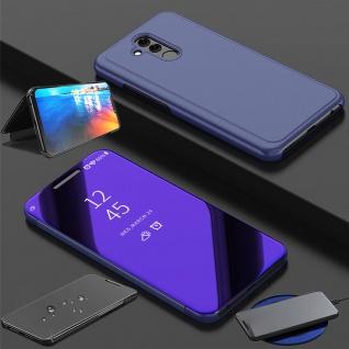 Clear View Spiegel SmartCover Lila für Huawei Mate 20 Lite Tasche Wake UP Hülle