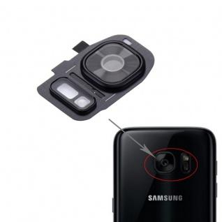 Für Samsung Galaxy S7 G930F Kamera Ring Glas Abdeckung Rahmen Cover Schwarz Neu