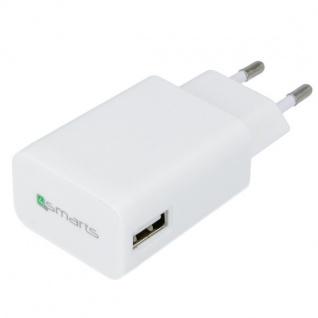 Universal Ladegerät Lade Adapter Stecker 2 A für Smartphones Tablets uvm. Weiss