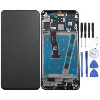 Für Huawei P30 Lite Display Full LCD Touch mit Rahmen Ersatz Reparatur Schwarz - Vorschau 1