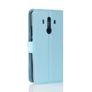 Tasche Wallet Premium Blau für Huawei Mate 10 Pro Hülle Case Cover Etui Schutz - Vorschau 3