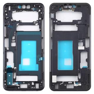 Gehäuse Rahmen Mittelrahmen Front Housing kompatibel für LG G8 ThinQ Schwarz
