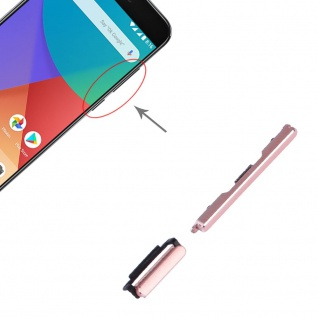 Power Volume Button Pink für Xiaomi Mi 5X / A1 Lautstärke On Off Ersatzteil
