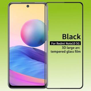 Für Xiaomi Redmi Note 10 5G 3D Display LCD H9 Hart Glas Schwarz Folie Panzer Neu