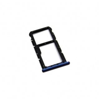 Für Huawei Mate 10 Lite Sim Karten Halter Sim Tray Sim Schlitten Holder Blau Neu