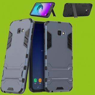 Für Samsung Galaxy J4 Plus J415F Metal Style Outdoor Grau Tasche Hülle Cover Neu