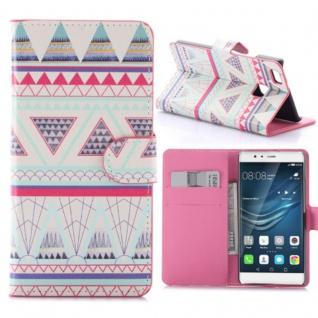 Schutzhülle Muster 57 für Huawei P9 Lite Bookcover Tasche Case Hülle Wallet Etui