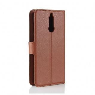 Tasche Wallet Premium Braun für Huawei Mate 10 Lite Hülle Case Cover Etui Schutz - Vorschau 3