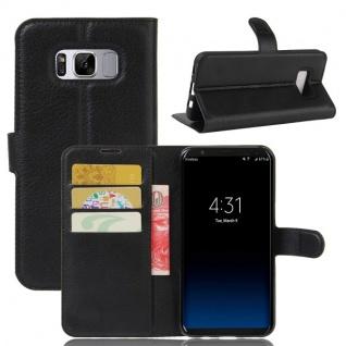 Tasche Wallet Premium Schwarz für Samsung Galaxy S8 G950 G950F Hülle Case Cover