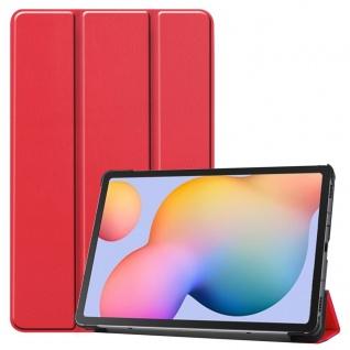 3folt Wake UP Smart Cover Rot Tasche Etuis Hülle für Samsung Galaxy Tab S5e T720