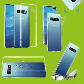 Für Samsung Galaxy S10 Plus G975F 6.4 Silikon TPU Transparent Tasche Hülle Etuis