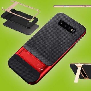 Für Samsung Galaxy S10 Plus Standing Hybrid Rot Tasche Etuis Hülle Outdoor Case