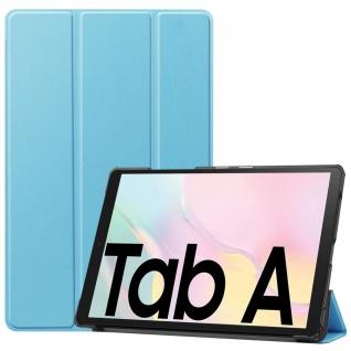 Für Samsung Galaxy Tab A7 2020 3folt Wake UP Smart Cover Etuis Hülle Case Blau