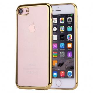 Premium TPU Schutzhülle Gold für Apple iPhone 7 4.7 Tasche Backcover Silikon Neu